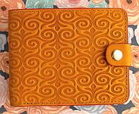 Брендовый кошелёк портмоне №3 узор Завиток с отделением для фото, фото 1
