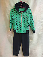 Детский спортивный костюм  для девочки 3-6 лет,бирюзового цвета, фото 1