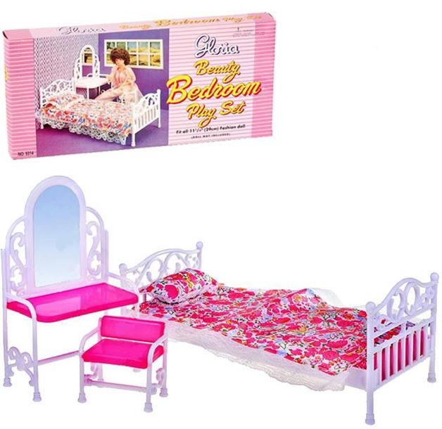 """Мебель """"Gloria"""" 9314  для кукол  спальни, в кор. 32*17*7см"""