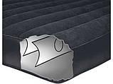 Надувной флокированный матрас с подголовником PILLOW REST CLASSIC BED INTEX 66767 (191х99х30 см) ZN, фото 3