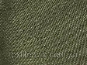 Тканина Коттон Діагональ колір Хакі 230 гр/м2