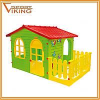Детский игровой домик - котедж Garden House с террасой