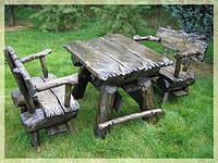 Садовые столы, столы для пикника из дерева на заказ Киев, деревянная мебель для дачи, фото 1
