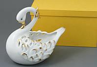 Фарфоровая конфетница Lefard Лебедь 101-228