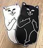 Чехол Кот с факами для iPhone 4/4S, белый