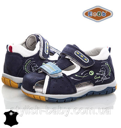 Детская кожаная обувь оптом. Летняя обувь 2018. Детские босоножки бренда EeBb для мальчиков (рр. с 21 по 26), фото 2