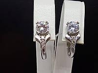 Серебряные серьги Дана с фианитами. Артикул 2922р-CZ, фото 1