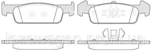 Колодки тормозные на Duster 1.5 dCI,1.6i,2.0i 4x4 REMSA 1540.10