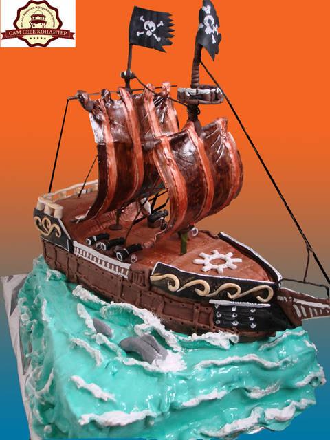 """Торт """"Пиратский корабль"""". 5"""