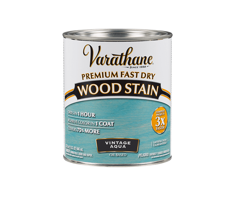 Морилка масляная VARATHANE FAST DRY для древесины аква (Vintage Aqua) 0,946л
