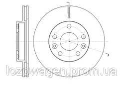 Передний тормозной диск на Duster 1.6i,1.5 dCI K9K 4x2 REMSA 61478.10