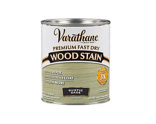 Морилка масляная VARATHANE FAST DRY для древесины зелёная (Rustic Sage) 0,946л
