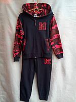 Спортивный костюм детский для мальчика 3-6 лет,темно синий с красным, фото 1