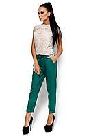 S, L / Женские габардиновые брюки Bress, зеленый