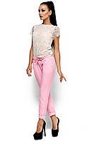 S, M, L / Женские габардиновые брюки Bress, розовый