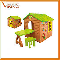 Детский игровой домик - коттедж Garden house со столиком