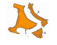 Четверть крыло задняя правая Nissan Leaf ZE0 (10-13) GHA00-3NAMA