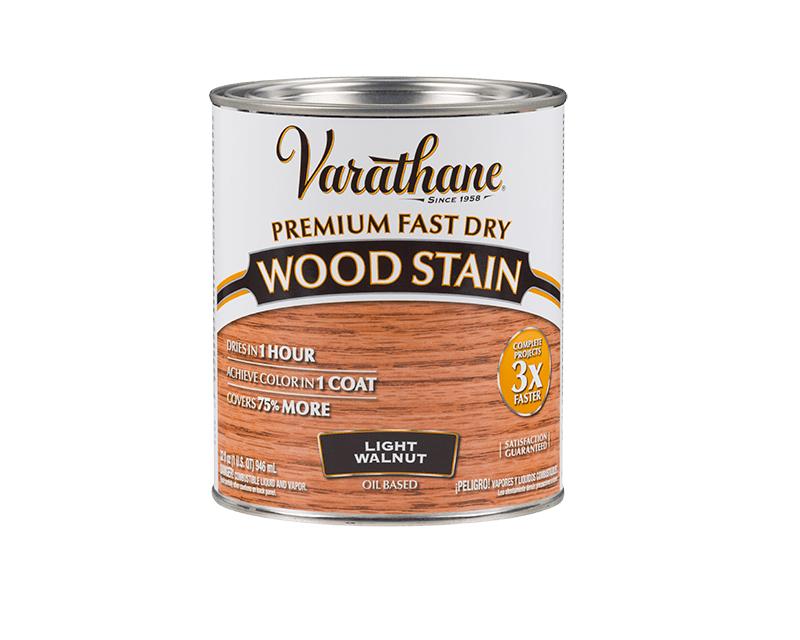 Морилка масляная VARATHANE FAST DRY для древесины светлый орех (Light Walnut) 0,946л