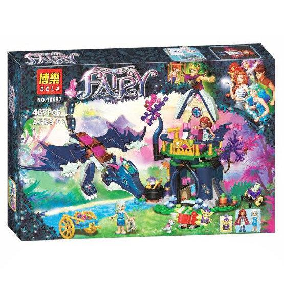 "Конструктор Bela Fairy 10697  ""Тайная лечебница Розалин"", 467 деталей ( аналог Lego Elves 41187 )"