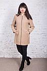 Женское пальто с капюшоном БАТАЛ от производителя модель весна 2018 - (рр-60), фото 5