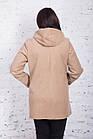 Женское пальто с капюшоном БАТАЛ от производителя модель весна 2018 - (рр-60), фото 7