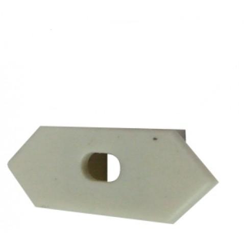 Торцевая заглушка 25*10 угловая с отверстием (1шт) Код.57805