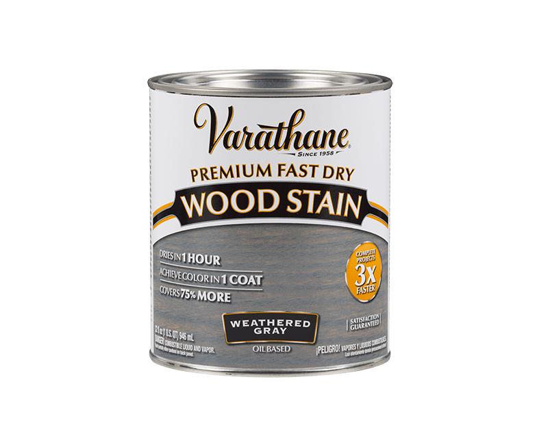 Морилка олійна VARATHANE DRY FAST для деревини сірий графіт (Weathered gray) 0,946 л