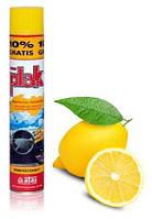 Полироль ATAS Plak очищает и освежает цвет, аэрозоль 200мл. Лимон