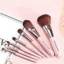 Набор кистей BIOAQUA Make up beauty 7 шт в металлическом футляре (розовые), фото 2