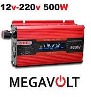 Инвертор 12-220 500W с дисплеем