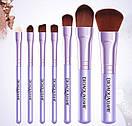Набор кистей BIOAQUA Make up beauty 7 шт в металлическом футляре (сиреневые), фото 2