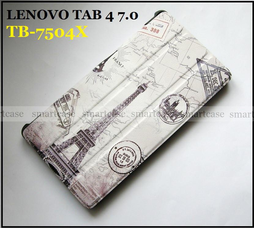 Эйфелевая башня (Paris) чехол книжка Lenovo Tab 4 7.0 Tb-7504X ультратонкий эко кожаный