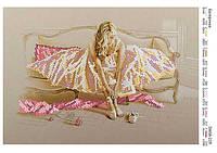 """Схема для частичной вышивки бисером """"Балеринка"""""""