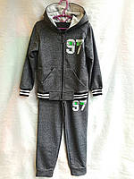 Спортивный костюм подростковый для мальчика 7-11 лет,темно серый, фото 1