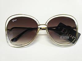 Легкие очки Dior с коричневым градиентом Опт