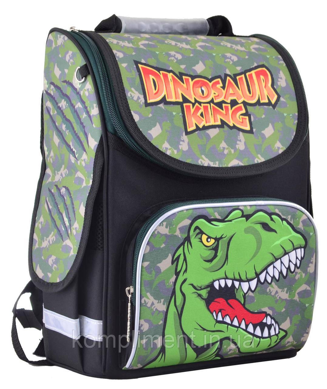 Рюкзак школьный каркасный ортопедический  PG-11 Dinosaur, 31*26*14, SMART