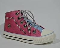 Высокие кеды на шнурках для девочки Conspotse 31, 32, 34 р