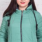 Весенняя женская куртка батальных размеров модель 2018 - (кт-267), фото 3
