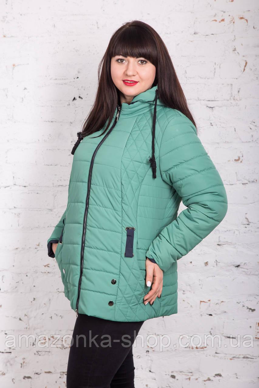 Весенняя женская куртка батальных размеров модель 2018 - (кт-267)