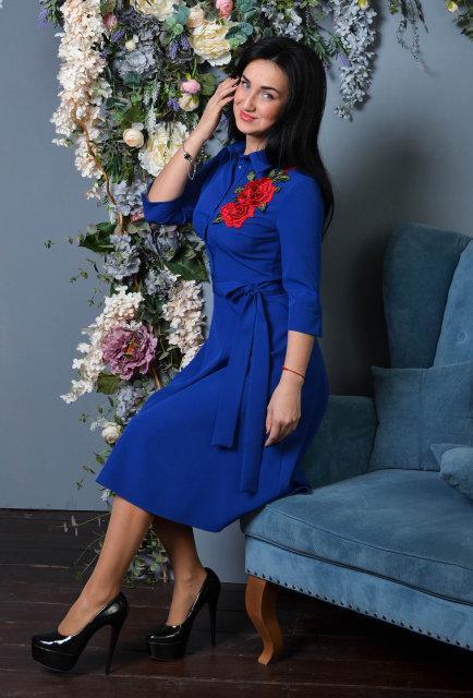 Молодежное элегантное  платье миди (размер 44)