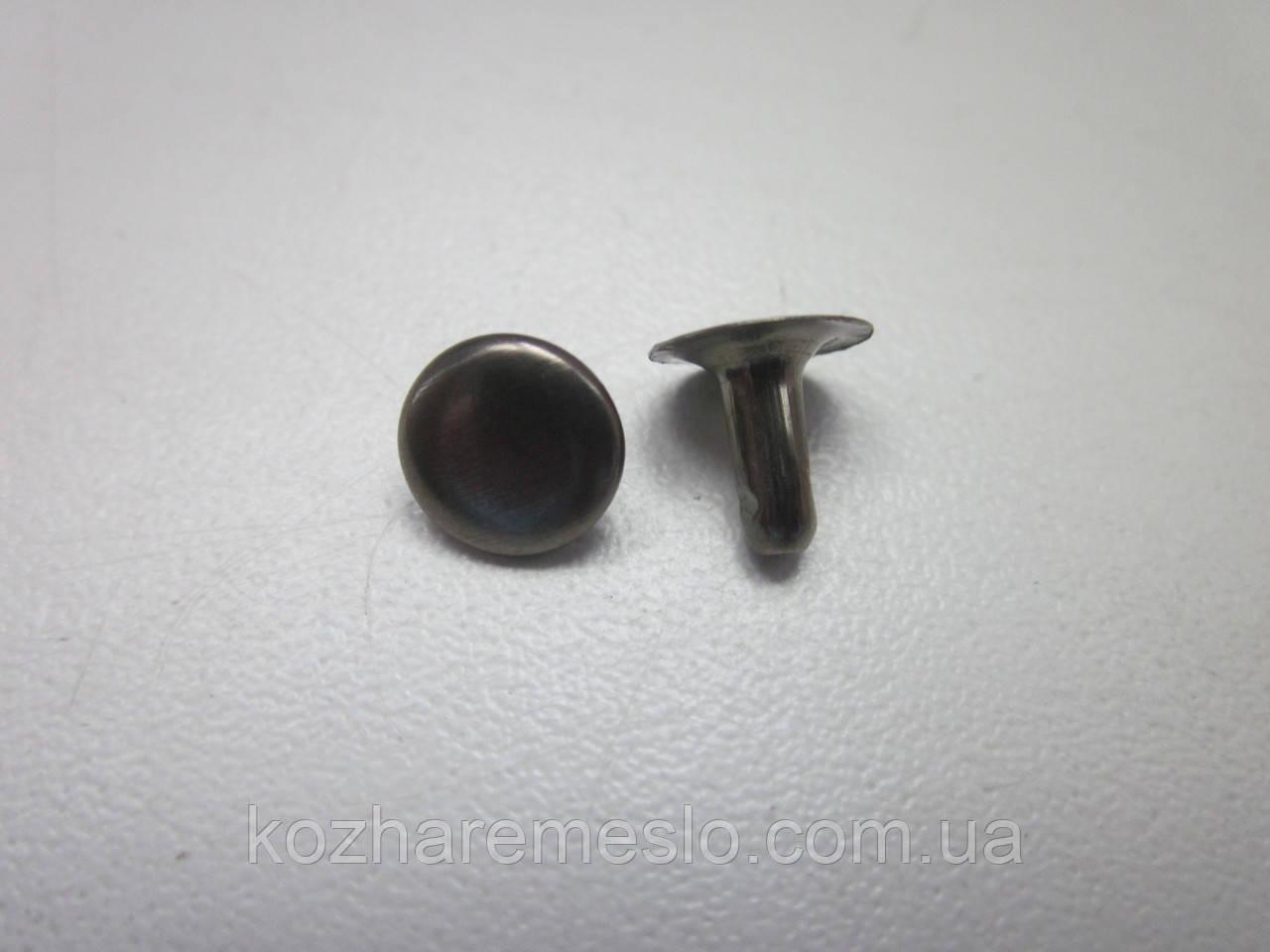 Хольнитен (заклёпка) односторонний 7 х 7 х 7 мм тёмный никель