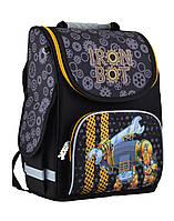 Рюкзак школьный каркасный ортопедический  PG-11 Iron bot, 31*26*14, SMART, фото 1