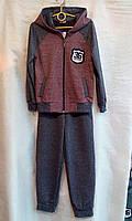 Спортивний костюм для хлопчика підлітковий 7-11 років,бордового кольору, фото 1