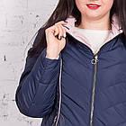 Женская куртка с капюшоном больших размеров модель 2018 - (кт-269), фото 3
