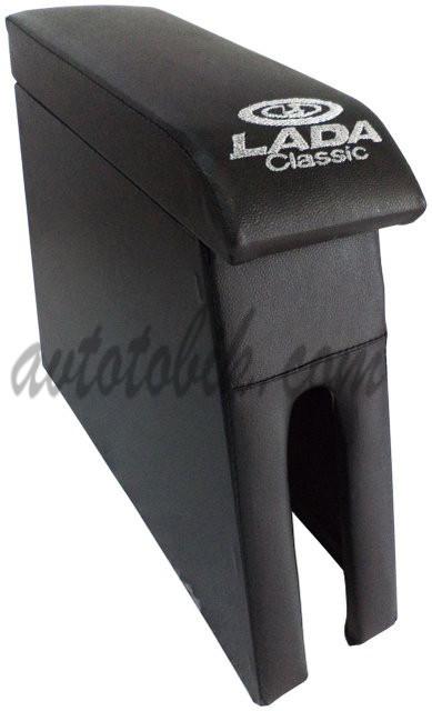 Подлокотник Lada (Лада) ВАЗ 2101-06 цвет черный с вышивкой