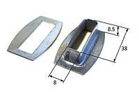 Люверсы прямоугольные 38х8 мм для крепления тента на прицеп, полуприцеп, кузов