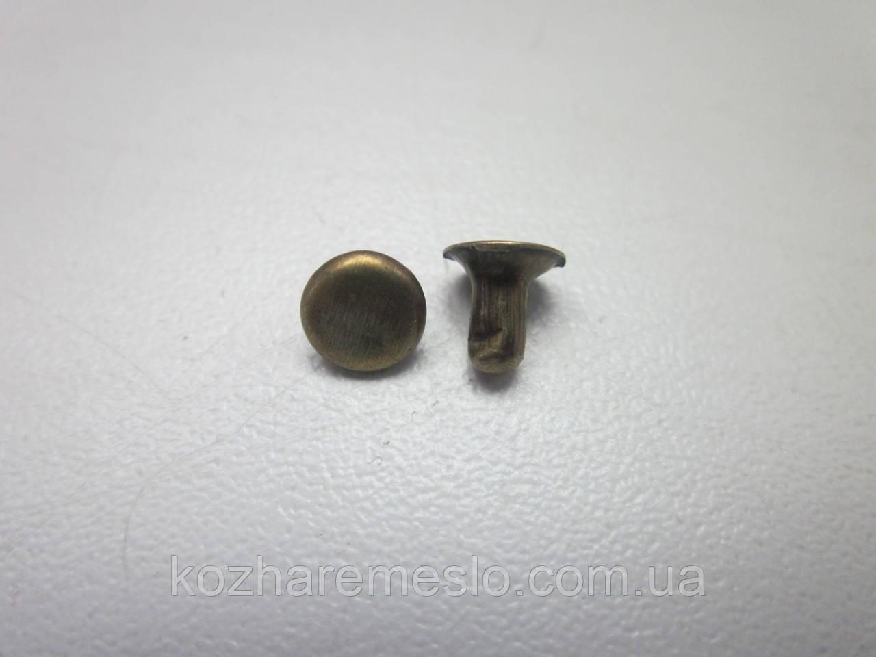 Хольнитен (заклёпка) односторонний 8 х 8 х 8 мм антик