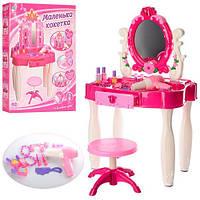 Игровой набор Салон красоты: туалетный столик с зеркалом, стульчик, фен, косметика, расчески и аксессуары