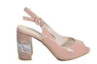 Лаковые босоножки на каблуке Magnori