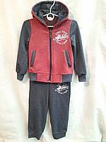Спортивный костюм детский для мальчика 3-6 лет,бордового цвета, фото 1
